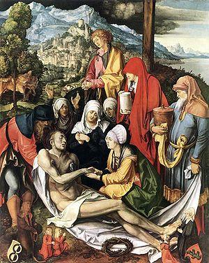 Lamentation for Christ, oil, 1500-3