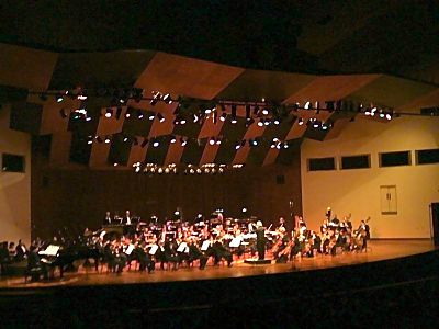 Aldemaro Romero directing the Municipal Symphony Orchestra of Caracas, at the celebration of the 50th anniversary of Dinner in Caracas Aldemaro Romero y OSMC.jpg