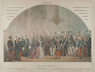1866 in Russia - Alexander II's audience after 1866 assassination by M.Zichy (GIM)