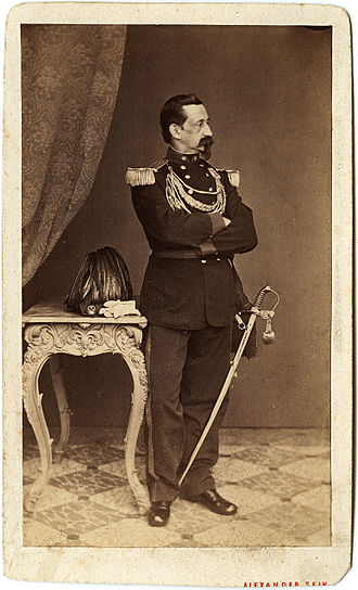 Alexander Seik - Self portrait of Alexander Seik in sharpshooter uniform, 1869