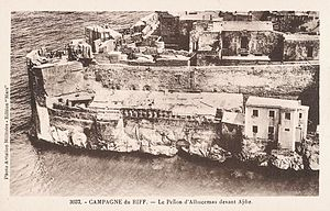 Plazas de soberanía - Aerial view of the Peñón de Alhucemas c. 1925