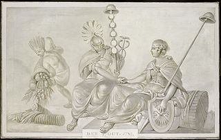 Allegory of the Treaty of Amity and Commerce between their High Mightinesses, the States General of the United Netherlands, and the United States of America, 1782