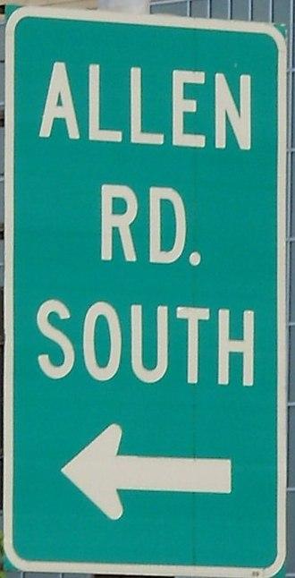 Allen Road - A trailblazer to Allen Road.