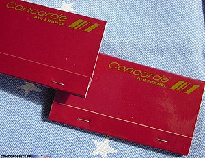 Matchbook - Supersonic Matchbox (1985-1986 given on Concorde)