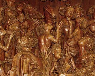 Dunkelsteinerwald - Image: Altardetail 01 carving altar
