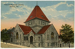 Altoona, Pennsylvania - First Presbyterian Church, from a pre-1923 postcard
