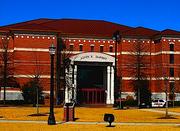 Una vista del edificio de la corte municipal
