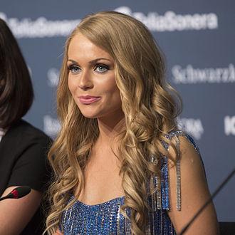 Alyona Lanskaya - Alyona Lanskaya at a Eurovision Song Contest 2013 press conference