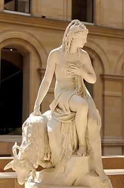 Amalthee et la chevre de Jupiter (Amalthea and Jupiter's goat); commissioned by the Queen of France in 1787 for the royal dairy at Rambouillet Amalthea Julien Louvre CC230.jpg