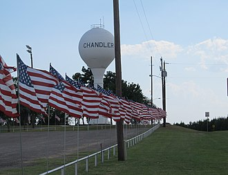 Chandler, Texas - An American flag display at Winchester Park in Chandler