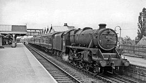 Amersham station - Marylebone - Woodford Halse stopping train in 1959