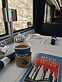 Amtrak train Capitol Limited 30 - dining car with full-service breakfast 1of3.jpg