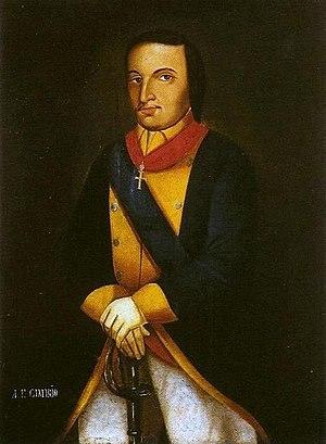 Potiguara - 17th century portrait of António Filipe Camarão