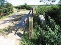 An unfriendly footbridge - geograph.org.uk - 516084.jpg