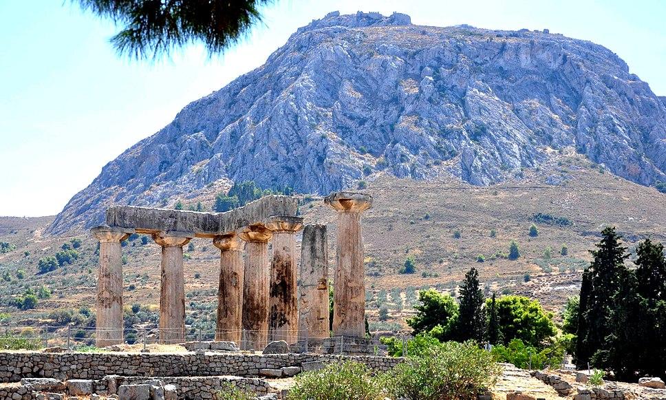 Ancient Corinth. Temple of Apollo