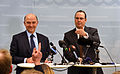Anders Borg and Pierre Moscovici at a press conference March 2013 005.jpg