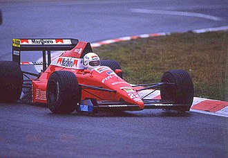 Andrea de Cesaris - De Cesaris at the 1989 Belgian Grand Prix