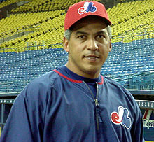 Close-up view of Galarraga as he poses.