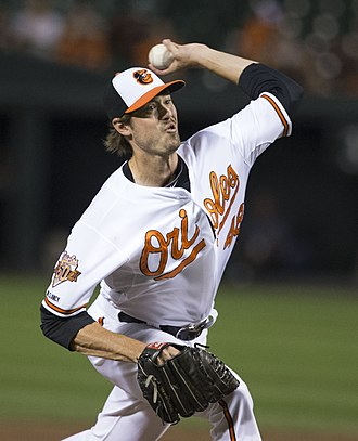 Andrew Miller (baseball) - Miller pitching for the Baltimore Orioles in 2014