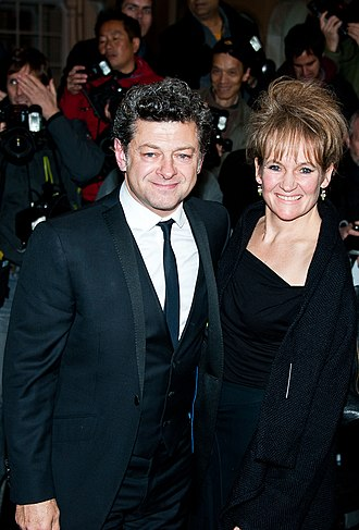 Andy Serkis - Serkis and his wife Lorraine Ashbourne in 2013