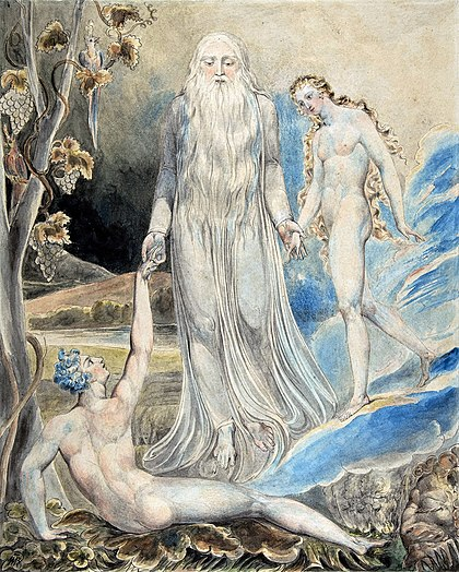 """Angel of the Divine Presence"" di William Blake"