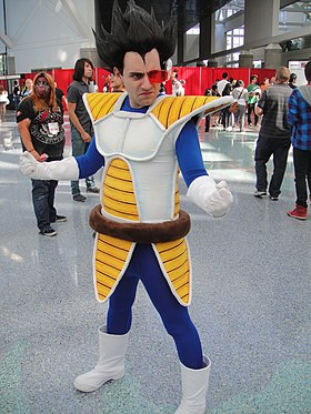 Cosplay de Vegeta à l'Anime Expo 2011.