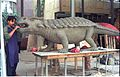 Ankylosaurus in Progress - Dinosaurs Alive Exhibition - NCSM - Calcutta 1995 454.JPG