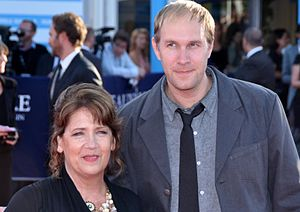 Compliance (film) - Star Ann Dowd and director Craig Zobel promoting the film at the 2012 Deauville American Film Festival.