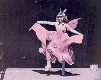 "Edison's Black Maria - Annabelle Whitford doing her ""butterfly dance"", recorded at the Edison's Black Maria studio"