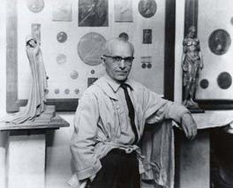 Anthony de Francisci - De Francisci in his studio