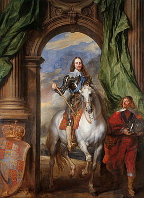 Anthony van Dyck, Charles I with M. de St Antoine, 1633