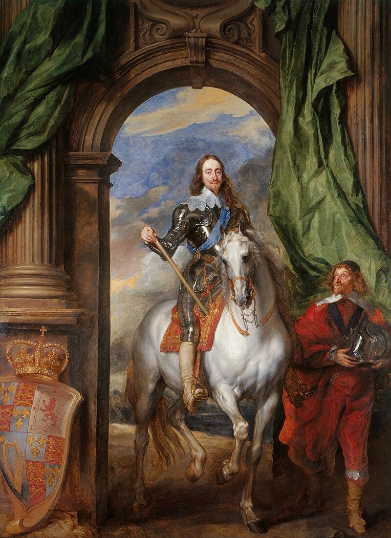 Anthony van Dyck - Charles I (1600-49) with M. de St Antoine - Google Art Project.jpg