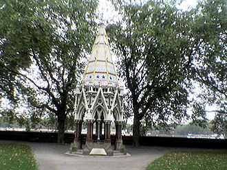 Anti-Slavery International - Buxton Memorial Fountain, celebrating the emancipation of slaves in the British Empire in 1834, in Victoria Tower Gardens, Millbank, Westminster, London