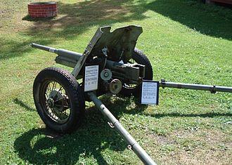 45 mm anti-tank gun M1937 (53-K) - Image: Anti tank gun 45mm m 1937 parola 5