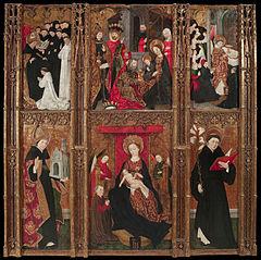 Retaule de la Mare de Déu, sant Agustí i sant Nicolau de Tolentino