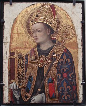 Louis of Toulouse - Saint Louis de Toulouse, 1450, by Antonio Vivarini. Louvre Museum.