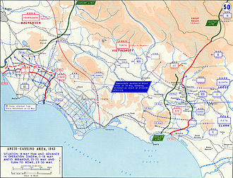 508th Heavy Panzer Battalion - Area of operations, late May 1944