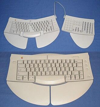 Apple Adjustable Keyboard - Image: Apple Adjustable Keyboard M1242 different views