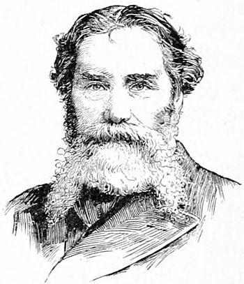 Portrait drawing of U.S. poet James Russell Lowell