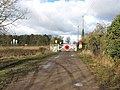 Approaching the level crossing in Roudham - geograph.org.uk - 1710410.jpg