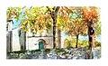 Aquarelle - monastère de Fiães - Portugal (9723205903).jpg