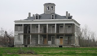 "Arabi, Louisiana - ""Le Beau"" began as a plantation house in 1854, and was later a hotel and gambling venue. Destroyed by arson in 2013."
