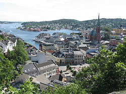 View of Arendal's city centre in August 2006