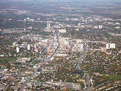 Areal view of Kitchener-Waterloo