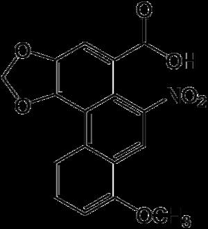 Aristolochic acid - Image: Aristolochic acid
