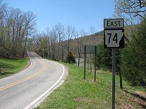 Arkansas Highway 74 - Highway 74 in Winslow.