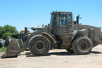 Loader (equipment) - Armored wheel loader of the Israeli Defense Forces