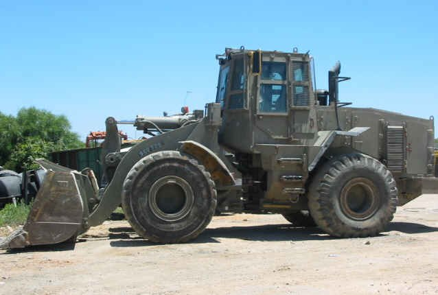 Armoured front loader
