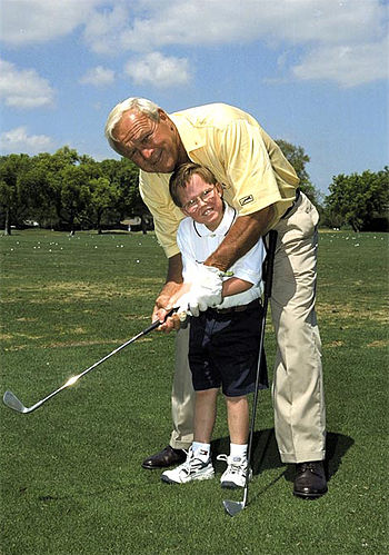 English: Arnold Palmer, taken by Hospital staf...