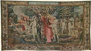 Jagiellonian tapestries - Paradise Bliss, Jan de Kempeneer's workshop, ca. 1550.